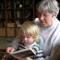 Reading to the Grandboy, 2009