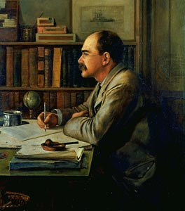 Rudyard Kipling writing