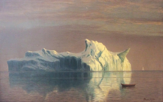 Painting by Albert Bierstadt: The Iceberg