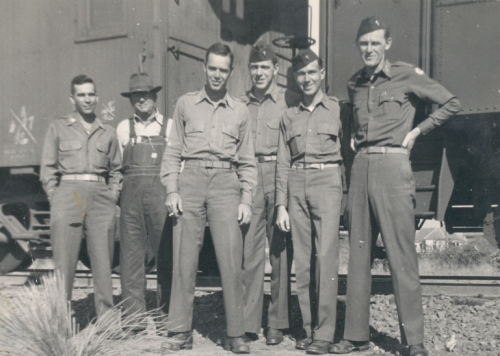 My Dad, fourth from the left...