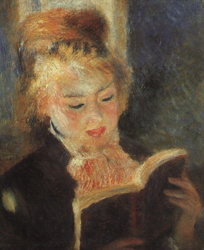 Young Woman Reading a Book, by Pierre-Auguste Renoir, 1875.