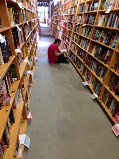 A reader at Powell's...