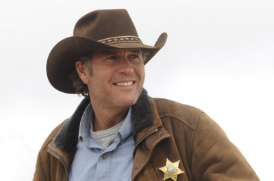 Actor Robert Taylor as Walt Longmire...