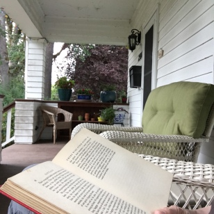 Reading on the porch...